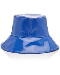 Eric Javits Patti Pvc Bucket Hat - Blue