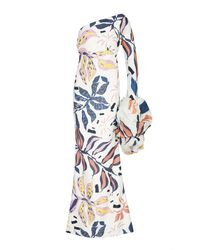 Leal Daccarett Bon Bon Bum One-shoulder Crepe Dress - Blue