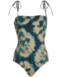 Ulla Johnson Marisol Printed One-piece Swimsuit - Blue