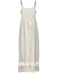 Lemlem | Ami Fringed Cotton-blend Maxi Dress | Lyst