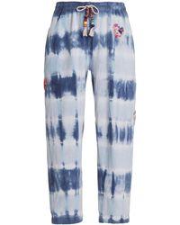 LoveShackFancy - Santinella Beaded Tie-dyed Cotton Terry Pants - Lyst