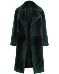 Martin Grant Open-front Shearling Coat - Green