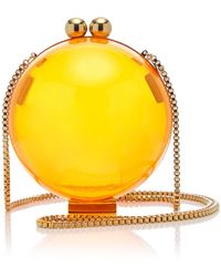 Marzook X Sofia Richie Lucid Classic Neon Plexiglass Orb Bag - Orange