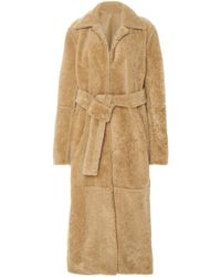 J. Mendel - Reversible Belted Shearling Coat - Lyst