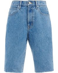 SLVRLAKE Denim Beatnik Rigid High-rise Denim Shorts - Blue