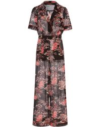 Anna Sui - Hibiscus Islands Cotton-and-silk-blend Jumpsuit - Lyst