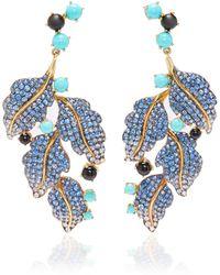 Wendy Yue 18k Gold Multi-stone Earrings - Blue