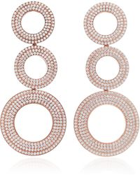 Joanna Laura Constantine - Grommets Statement Gold-plated Brass And Pave Cubic Zirconia Earrings - Lyst