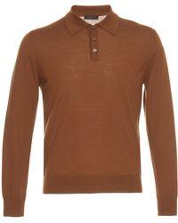 Prada - Long Sleeve Wool Polo - Lyst