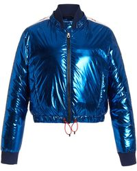 Perfect Moment Star Foil Puffer Jacket - Blue
