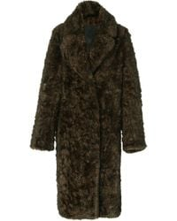 Paco Rabanne Eco Fur Coat - Brown