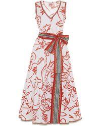 Le Sirenuse Evelin Paisley Dress - White
