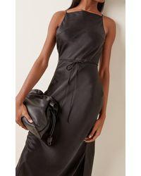 St. Agni Jules Silk Maxi Slip Dress - Black