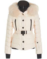 3 MONCLER GRENOBLE Beverley Belted Fur-trimmed Down-filled Shell Jacket - Pink