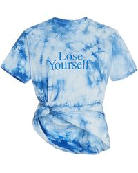 Paco Rabanne Lose Yourself Tie-dyed Cotton Jersey T-shirt - Blue