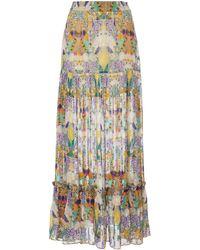 Chufy Inka Printed Broadcloth Maxi Skirt - Multicolour