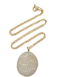 CVC Stones Rococo 18k Gold, Diamond And Stone Necklace - White