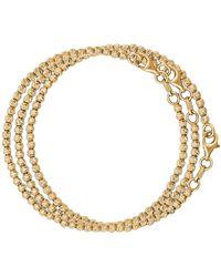 Carolina Bucci Set Of Three Discoball Bracelets In 18k Yellow Gold - Metallic