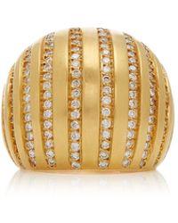 Karma El Khalil - 18k Gold Diamond Ring - Lyst