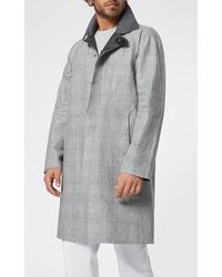 Sease 3-layer Linen Trench Coat - Gray