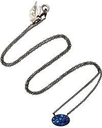 Colette - Baby Les Chevalieres 18k Black Gold Sapphire Necklace - Lyst