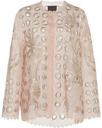 Biyan Kyolla Silk Eyelet Jacket - Pink