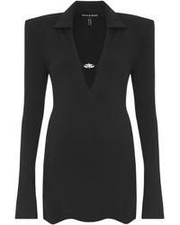 Mach & Mach Stretch Jersey Mini Dress - Black