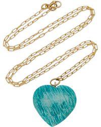 Haute Victoire 18k Yellow Gold Amazonite Necklace - Blue