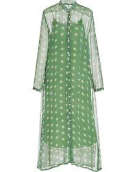 Cloe Cassandro Andrea Silk Maxi Dress - Green