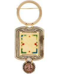 Lulu Frost One-of-a-kind Vintage Art Nouveu Framework Brooch - Metallic