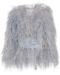 Alice McCALL Lady Bird Feather Coat - Blue