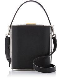 Hayward - Mini Field Textured-leather Bag - Lyst