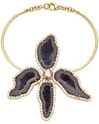 Kimberly Mcdonald - 18k Gold, Geode And Diamond Bracelet - Lyst