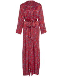 Seren London - Mo Mo Printed Silk Wrap Dress - Lyst