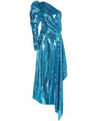 16Arlington One-shoulder Sequin Gown - Blue