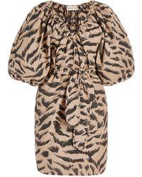 Mara Hoffman - Coletta Organic Cotton Jacquard Mini Wrap Dress - Lyst