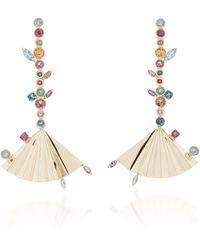Carolina Neves Plissé 18k Yellow Gold Multi-stone Earrings - Multicolour