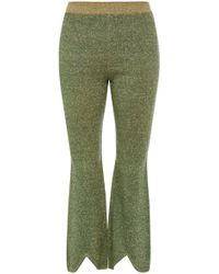 J.W. Anderson | High-rise Lurex Knitted Cropped Pants | Lyst