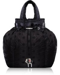 Moncler Genius Parachute Drawstring Floral-embroidered Shell Backpack - Black