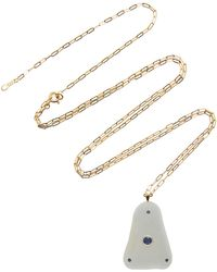 CVC Stones - Atlantic 18k Gold, Beach Stone And Sapphire Necklace - Lyst