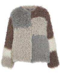 Pologeorgis - The Finley Knitted Lamb Coat - Lyst