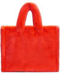 Stand Studio Lola Large Faux Fur Tote Bag - Red