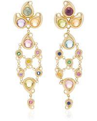 Tamara Comolli - 18k Yellow Gold Paisley Chandelier Candy Earrings - Lyst