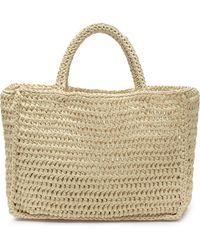 Miista Clyde Woven Raffia Bag - Natural