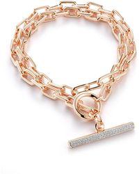 WALTERS FAITH Saxon 18k Rose Gold And Diamond Bracelet - Pink