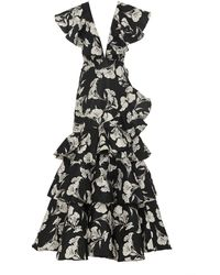 Johanna Ortiz Exclusive Exquisite Pattern Embellished Gown - Black