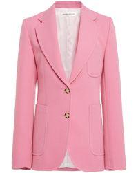 Victoria Beckham Structured Virgin Wool-blend Blazer - Pink