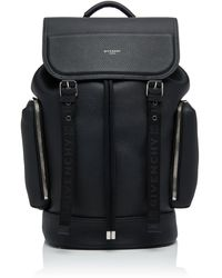 Givenchy Buckled Textured-leather Backpack - Black