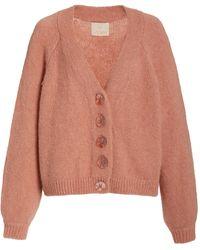 byTiMo Hairy Alpaca-blend Knit Cardigan - Pink