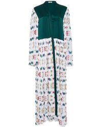 VERANDAH - Knife Pleated Kimono Kaftan - Lyst